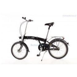 Aluminiowy rower składany MIFA 3-BIEGI SHIMANO NEXUS czarny z prądnicą