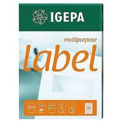 Etykiety samoprzylepne na CD/DVD białe Igepa EA-CD-ROM2Q, 80ark. A4
