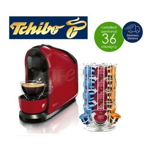 e743062b6e4b Ekspres kapsułkowy Tchibo Cafissimo Pure 326531 ( czerwony) + Tchibo stojak  na kapsułki Cafissimo