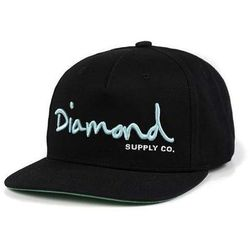 czapka z daszkiem DIAMOND - Og Script Snapback - Core Black (BLK) rozmiar  165b708be5d5