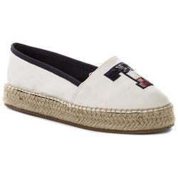 Espadryle TOMMY HILFIGER - Th Sequins Espadrille FW0FW02412 Whisper White 121