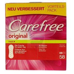Carefree Wkładki higieniczne Fresh original 58 szt.