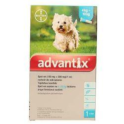 Bayer advantix Spot-on 1 ml (4 - 10 kg) - różne warianty Wariant:Wariant 2