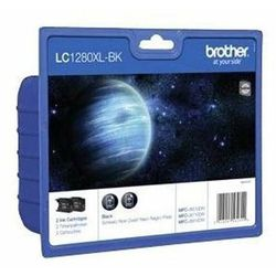 Brother oryginalny ink LC-1280XLBKBP2, black, 2x2400s, high capacity, Brother MFC-J6910DW