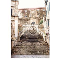 Obraz Strome schody i wąska ulica w starego miasta Dubrownika