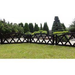 Płotek ogrodowy, 2,3 m brązowy