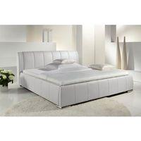 EWA łóżko tapicerowane białe z pojemnikiem - czarny