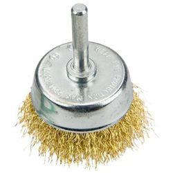 Szczotka druciana VERTO 62H330 doczołowa z trzpieniem 50 mm