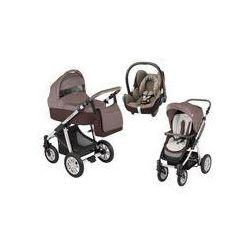Wózek wielofunkcyjny 3w1 Lupo Dotty Baby Design + Cabrio Fix GRATIS (brązowy)