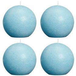 Świece Bolsius, kula 100 mm, jasno niebieski, aqua x4 Zapisz się do naszego Newslettera i odbierz voucher 20 PLN na zakupy w VidaXL!