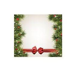 Foto naklejka samoprzylepna 100 x 100 cm - Boże Narodzenie z gałęzi świerkowych.