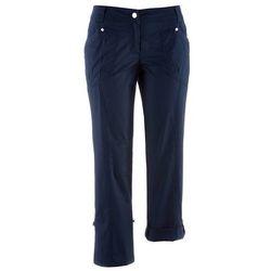 Spodnie bojówki 3/4 bonprix ciemnoniebieski