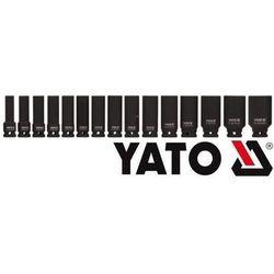 YATO Zestaw nasadek udarowych długich 1/2 cala 15 szt. YT-1055
