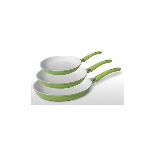 Patelnia ceramiczna PROMIS ~Zestaw 3 szt: 20, 24, 28 cm ~ ORGANIKA ~EKOCERAM~