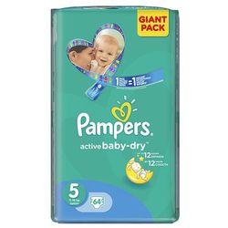 PAMPERS Active Baby pieluchy 5 Junior 64szt pieluszki