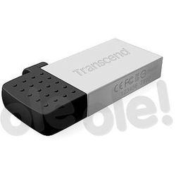 Transcend JetFlash 380 16GB USB 2.0 - microUSB (srebrny)