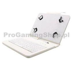 Akcja - Etui FlexGrip z klawiaturą do GoClever Tab M703G, Biały