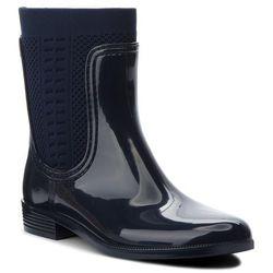 85a460f129c97 Kalosze TOMMY HILFIGER - Tommy Knit Rain Boot FW0FW02940 Midnight 403