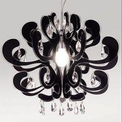 LAMPA wisząca EMPORIO V2305-BL Italux IP20 stylowa OPRAWA z kryształkami czarny