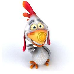 Fototapeta Zabawa z kurczaka