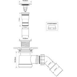 Syfon brodzikowy 50 klik-klak McALPINE HC26CLCP