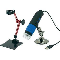 Zestaw Mikroskop cyfrowy USB 9,0 MPixel + Stojak 3D Conrad DP-M14 9 MPx USB Powiększenie 10 do 200 x
