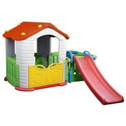 Domek ogrodowy z przedsionkiem+zjeżdżalnia 3w1