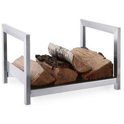 Zack - Stojak na drewno do kominka Calore - stal nierdzewna matowa