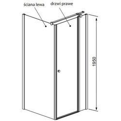 Radaway Eos II ścianka boczna 75 cm S2 3799429-01L lewa