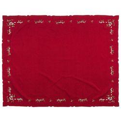 Forbyt Obrus świąteczny jemioła, czerwony, 120 x 140 cm