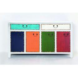 Kare design :: Komoda biała Harlekin, 2 szuflady, 4 drzwi