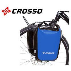 CO1010.30.05 Sakwy rowerowe Crosso DRY SMALL 30l Niebieskie zestaw na tył / przód