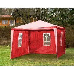 Rovens.pl Pawilon ogrodowy handlowy 3x3 m + ścianki ,namiot, czerwony