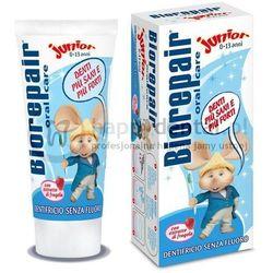 BIOREPAIR Junior 50ml - wyjątkowa pasta dla dzieci o smaku świeżych owoców wzmacniająca i remineralizująca zęby (bez fluoru)