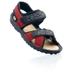 Sandały trekkingowe ze skóry bonprix czerwony