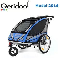 Przyczepka rowerowa Qeridoo Sportex2 Niebieska