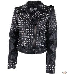 kurtka kobiety (ramoneska) KILLSTAR - Studded Leather - Black