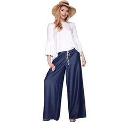 Spodnie szerokie denim