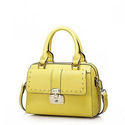 Praktyczna, modna torebka damska Żółta