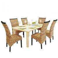 6 rattanowe krzeseł brązowych Abaca, ręcznie plecionych Zapisz się do naszego Newslettera i odbierz voucher 20 PLN na zakupy w VidaXL!
