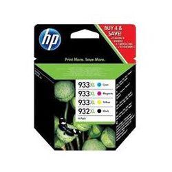 Oryginał Zestaw czterech tuszy HP 933XL/932XL do OJ 7612/7110 | 1000(BK), 825(COL) | CMYK