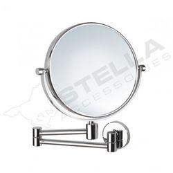 Stella Lusterko kosmetyczne proste powiększające 3X, podwójne ruchome ramię chrom - 22.011