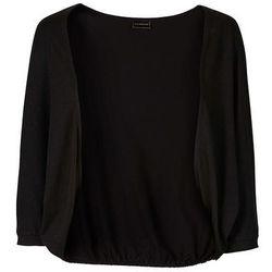 Bolerko shirtowe bonprix czarny