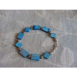 B-00007 Bransoletka na rękę z kostek masy perłowej