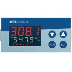 Kompaktowy regulator z funkcją programu JUMO dTRON Jumo 703042 110 - 240 V/AC Wyjścia Dwa przekaźniki (zestyk przełączny) o mocy przełączania: 3 A przy 230 V/AC obciążenia rezystancyjnego · Przekaźnik (zestyk zwierny) zasilania napięciem dla dwuprzewodowego przetwornika pomiarowego · Napięcie: Galwanicznie izolowane, nieregulowane, 30 V bez obciążenia, 23 V przy 30 mA · Opcja (tylko w wersji, gdy działa jako regulator ciągły): Wyjście analogowe 0–20 mA, 4–20 mA, 0–10 V Wymiary zabudowy 92 x 45 mm Głębokość montażowa 90 mm