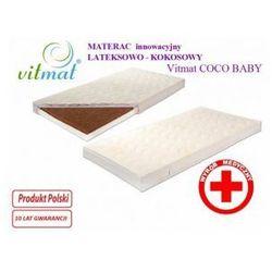 Materac innowacyjny lateksowo - kokosowy Vitmat COCO Baby 120x60 Antyalergic