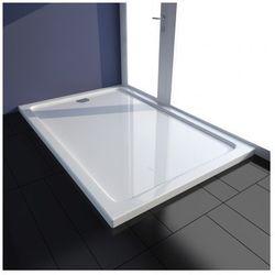 Brodzik prysznicowy prostokątny ABS biały 80 x 120 cm Zapisz się do naszego Newslettera i odbierz voucher 20 PLN na zakupy w VidaXL!