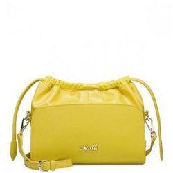 Modna damska torebka skórzana Żółta