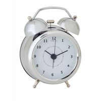Budzik Wake Up silver, 9 cm - 9,00 cm