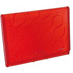 Teczka A4 z 6-przegródkami OMEGA czerwona EX4315 Panta Plast 0410-0041-05